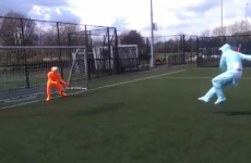 WATCH: Morph getting hit by football
