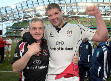 Ulster coach Brian McLaughlin with captain Johann Muller.