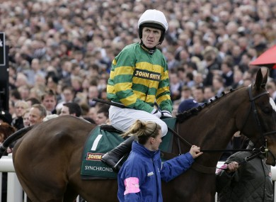 Syncronised with jockey Tony McCoy before the Grand National last week.