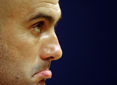 Pep Guardiola: it's not our year.