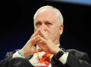 John Bruton at the Fine Gael Ard Fheis in Dublin recently.