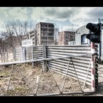 The entry gate and last security check before enterin Pripyat. Organised tours are the only way of getting into the ghost town. 