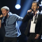 Jim Devine with Kian Egan