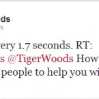 Tiger Woods has been receiving your swing tips.