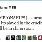 Mark Williams generates his first Twitter controversy. Backtracking ensues.