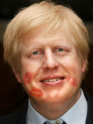 Boris Johnson waxwork at Madame Tussauds.