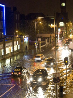 Flash flooding in Rathmines in October