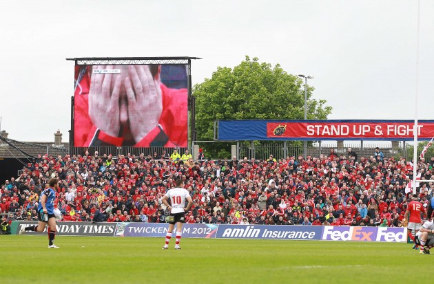 Worrying times for a Munster fan during the match 8/4/2012