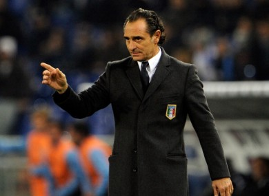 Cesare Prandelli: preparing for Euro bid this summer.