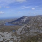 View of the Seven Sisters from the top of Mount Errigal, Co Donegal.