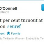 Our own Hugh O'Connell voted in Athy, Co. Kildare