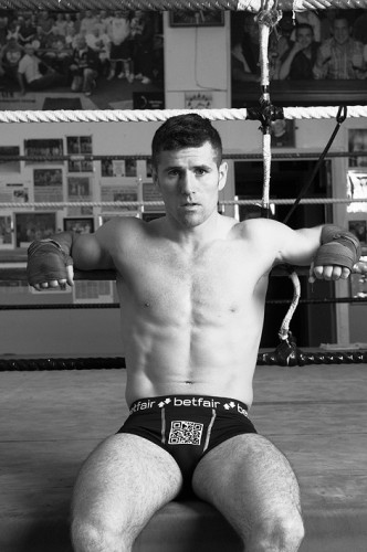 IRISH boxer Eamonn OÕKane shows that heÕs got the full package, as he trials a new marketing technique encouraging punters to scan his crotch at the weigh-in for SaturdayÕs Betfair Prizefighter Middleweights show in Belfast. The specially designed pants f