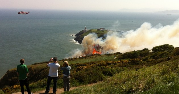 Fire service called to gorse fire on Dublin's Howth Head