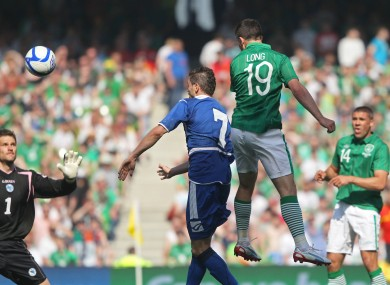 Shane Long scores the winning goal.