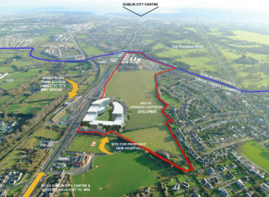 An aerial shot of the proposed development.