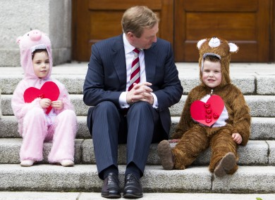 Just the Taoiseach with some Care Bears. No biggie.