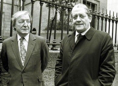 Haughey and Lenihan pictured in 1986.