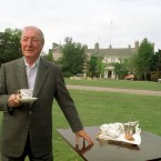 Haughey with a cup of tea at Abbeville in 1995. Pic: Photocall Ireland