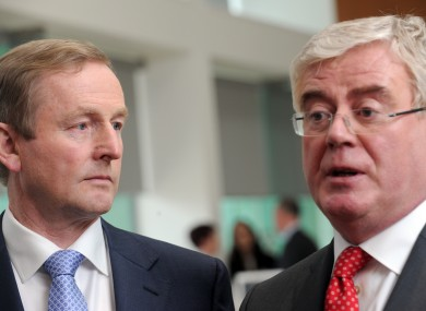Tough task: Enda Kenny and Eamon Gilmore