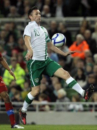 Robbie Keane in action against the Czech Republic in February.