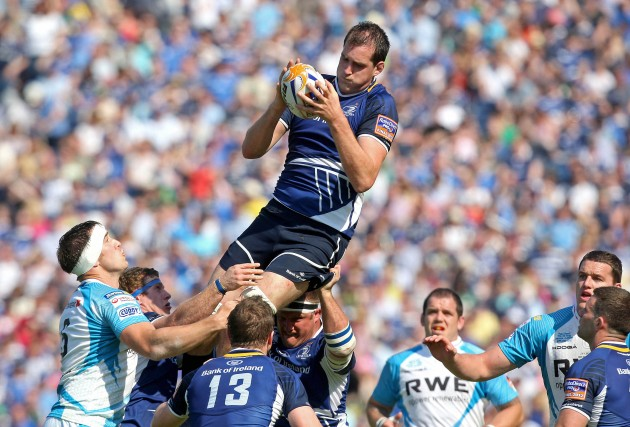 Devin Toner claims a high ball 27/5/2012
