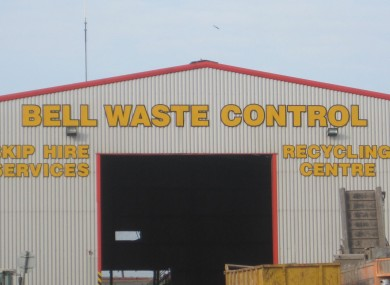 A general view of Bell Waste Control site in Scunthorpe, where the body of a baby was found in waste being sorted at the recycling plant.