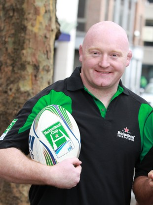 Bernard Jackman at the official launch of Heineken Star Saturday.