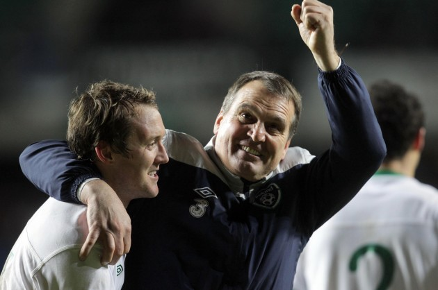 Marco Tardelli and Aiden McGeady at the end of the game 11/11/2011
