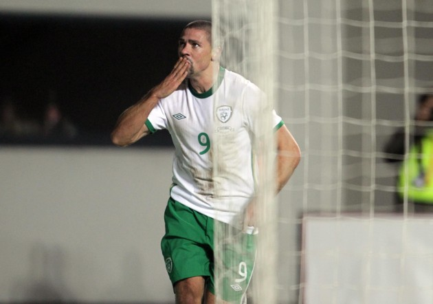 Jonathan Walters celebrates his goal