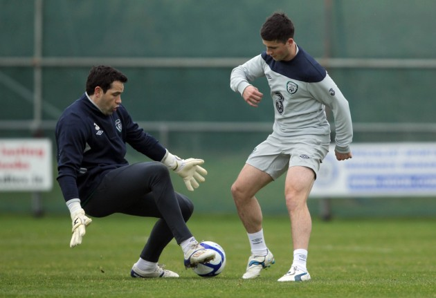 David Forde and Shane Long 26/2/2012