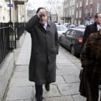 Lenihan arrives at a press briefing in January 2010 after being diagnosed with cancer