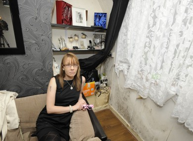 Linda Burnett-Bowdler in her ground floor flat in Dolphin House this week.