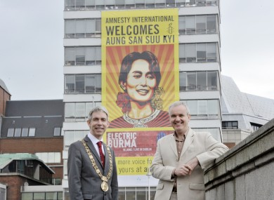 Andrew Montague, Lord Mayor of Dublin, and Colm O'Gorman, Executive Director of Amnesty International Ireland.