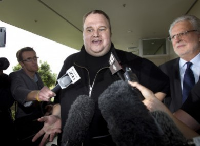 File photo of Kim Dotcom after he was granted bail.