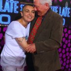 Gay Byrne with singer Sinead O'Connor. (Photo by Darren Kinsella)