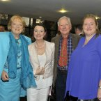 Gay Byrne with his wife Kathleen and daughters at RTÉ. (Photo by Michael Chester)