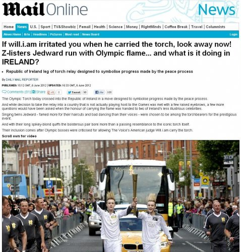 Mail olympic flame story
