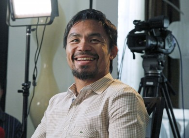Manny Pacquiao: set for a rematch.