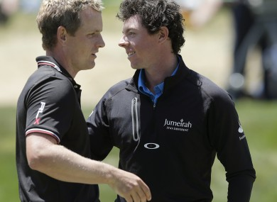 Donald and McIlroy at the recent US Open in San Francisco.
