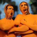 Dutch fans cheers before the Euro 2012 soccer championship Group B match between Portugal and the Netherlands in Kharkiv, Ukraine, Sunday, June 17, 2012. (AP Photo/Manu Fernandez)
