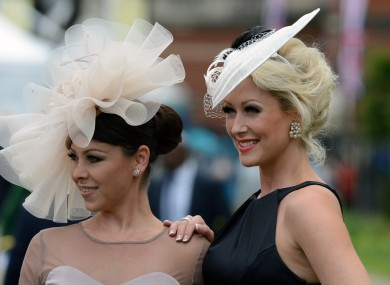 Stepping out: Lisa Scott-Lee and Faye Tozer at Royal Ascot yesterday.