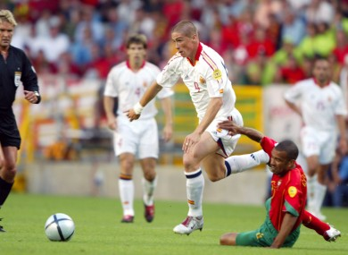 Fernando Torres goes by Costinha in 2004. 