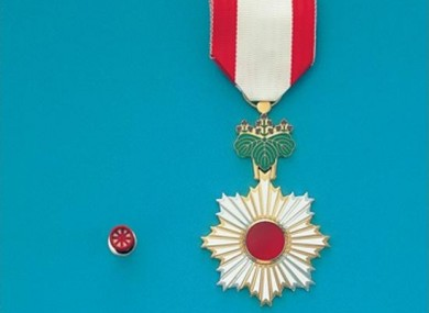 6th class Grand Cordon Order Award