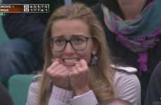 Novak Djokovic's girlfriend makes her triumphant return with the best worried face ever