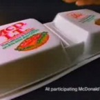 McDonald's introduced the McDLT in the mid-1980s. It was a simple burger with lettuce and tomato, but came in a styrofoam package with separated the lettuce and tomato from the beef patty, keeping the veggies cool and the meat warm.
