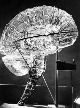 A model of the human brain made of glass by Dr Nagler of Vienna, 1953.