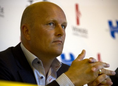 Danish cycling team Saxo Bank team manager Bjarne Riis.