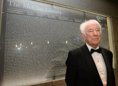 We hope Seamus Heaney dons a tux for the event.