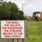 A sign erected by protestors at Clonmoylan Bog