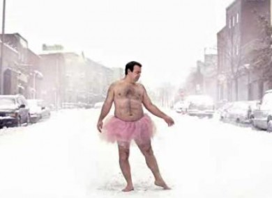 Bob Carey takes self-portrait photos in a pink tutu for charity